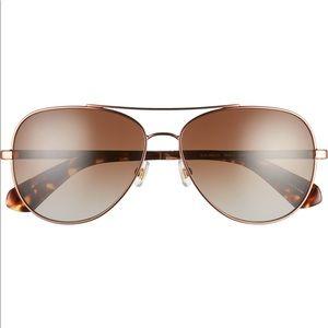 NWT Kate Spade Avaline 2 58mm polarized sunglasses